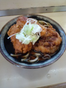 【Eating】Fried chicken soba