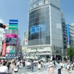 Shibuya station front crossroads